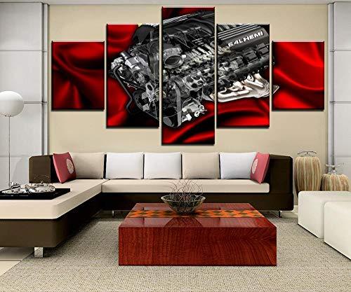 Mxsnow 5 Leinwanddrucke Rahmen Wandbilder Bild Hd Gedruckt Leinwandbilder Malerei 6 4L Hemi Motor Leinwandbilder Für Drucke Auf Leinwand