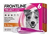Frontline Triact, 6 Pipette, Cane S (5 -10 Kg), Antiparassitario per Cani e Cuccioli di Lunga Durata, Protegge il Cane da Pulci, Zecche, Zanzare, Pappataci e Leishmaniosi, Antipulci 6 Pipette