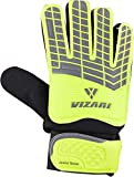 Vizari Junior Saver Soccer Goalkeeper Gloves (6, Yellow / Grey / Black)