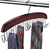 FLORIDA BRANDS Scarf and Tie Hanger - Closet Organizer and 12 Hook Wooden Tie...