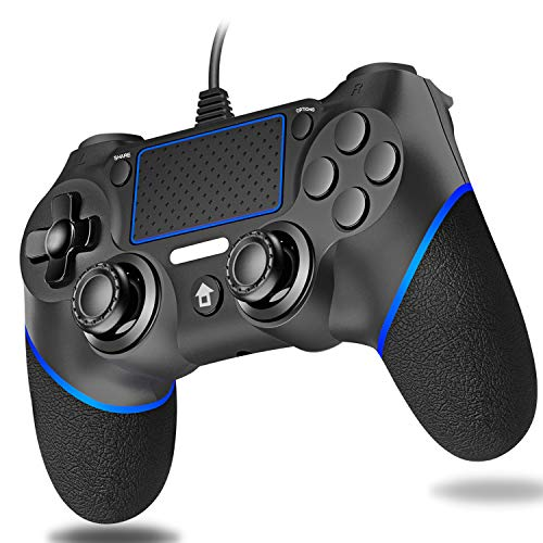 Cypin PS4 Wired Game Controller, Wired Controller für PS4 USB Wired Dual Vibration PS4 Gamepad RemoteJoystick für Playstation 4 / PS4 Slim / PS4 Pro PC Kabellänge 6,5 Fuß