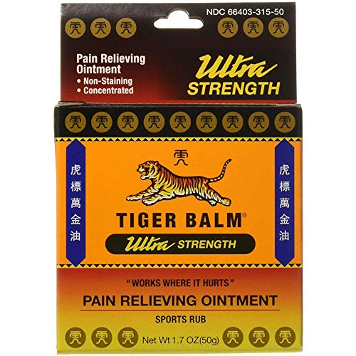 Tiger Balm Ultra Strength Pain Relieving Ointment Sports Rub, 1.7 Ounces