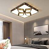Lámpara de techo LED regulable con control remoto, 48W 3840LM Lámpara de techo moderna 3000k-6000K para sala de estar, dormitorio, oficina, comedor, pasillo, balcón (48W regulable negro)