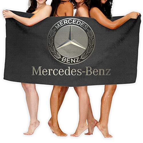 Mercedes Benz Super saugfähige Handtücher aus 100% reiner Baumwolle, waschbar, Luxus-Badetücher, groß, Badezimmer für den täglichen Gebrauch, 80 x 130 cm
