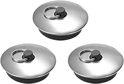 Rubber Sink Plug Drain Stopper Fit 39-48mm with Ring for Bathtub Kitchen  3Pcs Home, Furniture & DIY