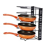 GEYUEYA Home Pan Pot Organizer Heavy Duty Height Adjustable Cookware Rack Holder for Kitchen Cabinet Pantry and Countertop - Easy Assembly