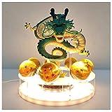 Ball Shenron Crystal Ball Led Night Light Dragon Ball Lamp USB Power Toys Model Dragon Ball Z Theatrical Edition Shenlong Group Hand-Made Model Luminous Toy,A