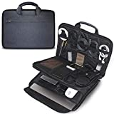 Evoon パソコン ケース ノートパソコン ケース ガジェットポーチ バックインバック 13-13.3インチ 防水/衝撃吸収/多機能 macbook air 13 / MacBook Pro 13 / surface pro/インナーバック PCケース 13.3inch ネイビー