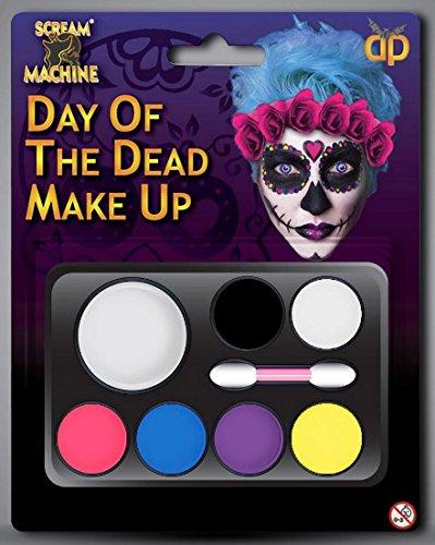 """Halloween-Make-up-Set """"Day Of The Dead"""", Zucker-Schädel, Gesichtsmalfarbe, Kostüme, Verkleidung"""