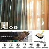 WOLTU 488-2, 2 x Gardinen Vorhang Blickdicht mit Ösen, 2er Set leichte & weiche Verdunklungsvorhängen für Wohnzimmer Schlafzimmer Tür, 135x245 cm, Crème - 6