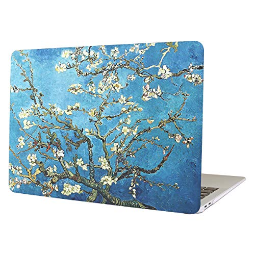 Funut Laptop Case for MacBook Air 13 Inch, Matte Hard Plastic Case Rubber Coated Slim Smooth Touch Air 13 Protective Case Cover for 2010-2017 MacBook Air 13.3 Inch A1466 & A1369, Apricot Blossom