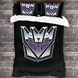 NBAOBAO Juego de ropa de cama de Transformers, 100% microfibra, adecuado para todas las estaciones, ropa de cama de fácil cuidado, alta calidad (Transformers 1,220 x 240 cm + 50 x 75 cm x 2).