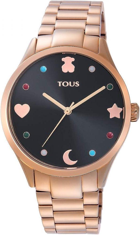 Reloj TOUS Super Power de acero IP rosado Ref:800350720