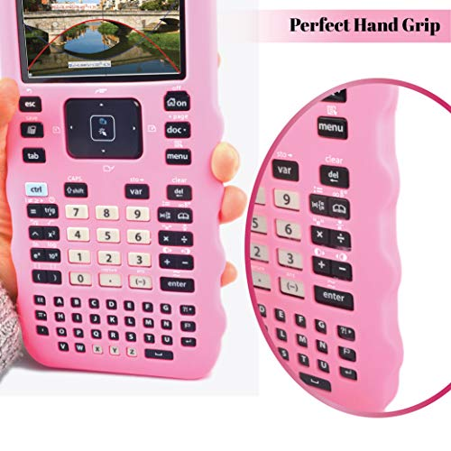 Sully Silicone Skin for Ti Nspire CX/CX CAS Handheld (Pink) w/Screen Protector - Silicon Cover Case for Ti-Nspire CX Hand held Graphing Calculator - Protective & Anti-Scretch Skins & Screen Covers Photo #9