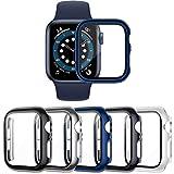 VASG [5 Pezzi] Custodia compatibile con Apple Watch Series 6/5/4/SE 40mm PC Cover con Protezione in Vetro Temperato per Custodia Protettiva compatibile con iWatch