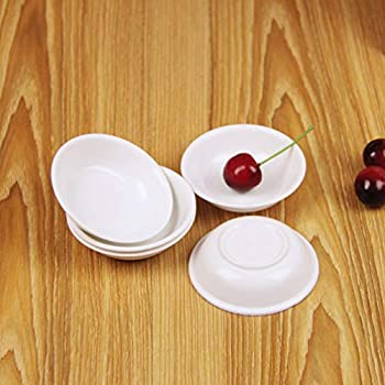 10pcs Sauce Dishes Food Dipping White Break-resistant Appetizer Plate White