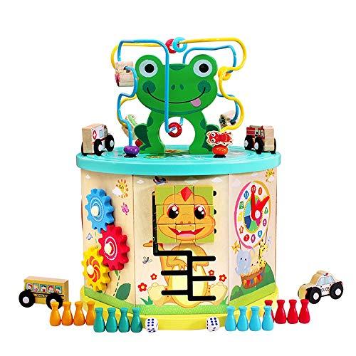 Xyanzi Bébé Jouets Jouets éducatifs pour Enfants, Coffre au trésor, Cube d'apprentissage Ooden Bead Maze Ducational Toys pour Tout-Petits (Taille : B)