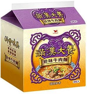 《統一》 滿漢大餐 珍味牛肉麺 (173g×3袋) (珍味牛肉ラーメン) 《台湾 お土産》 [並行輸入品]