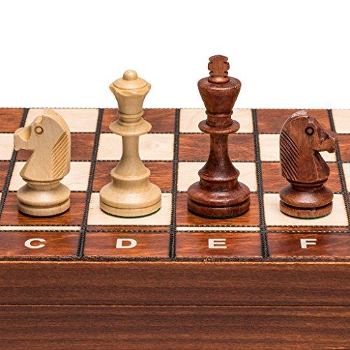 Wegiel Senator European Chess, Checkers and Backgammon Set, 16 Inches