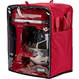 HOMEST Stand Mixer Dust Cover, Storage Bag with Pockets Compatible with KitchenAid Tilt Head & Bowl Lift Models (Fit for Bowl Lift 5-8 Quart, Visible-Red)