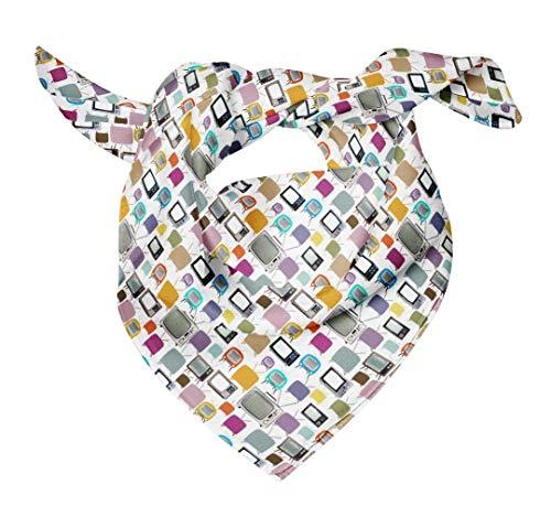 Bimba Blanc télévision mélanger tête imprimée en pure soie écharpe bandanas dété bandanas 40 x 40 Pouces