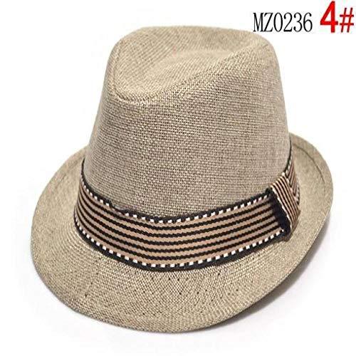 mlpnko Kinder Jazz Hüte für Männer und Frauen Visier Kinder Hüte Baby Hut Visier Khaki Farbcode