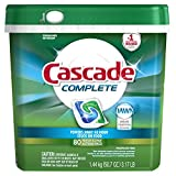 Cascade Complete All-in-1 Actionpacs Dishwasher Detergent, Fresh...