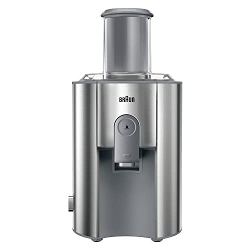 Braun J700 Multiquick 7 Entsafter | Hochleistungs-Entsafter-System | Großer Einfüllschacht (75 mm) | Innovatives Anti-Tropf-System | Kraftvoller 1.000 Watt Motor | silber