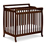 Emily 4-in-1 Convertible Mini Crib in Espresso, Greenguard Gold Certified