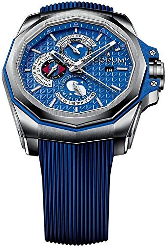 Corum Admiral's Cup Ac-One 45 Tides 277.101.04/F373 AB12 45mm Automatic Titanium Case Blue Rubber Anti-Reflective Sapphire Men's Watch by Corum