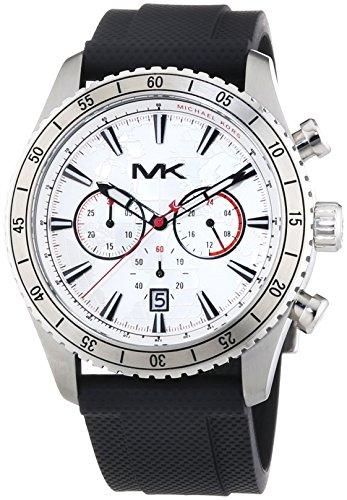 Michael Kors MK8353 – Reloj para Hombres, Correa de Goma Color Negro