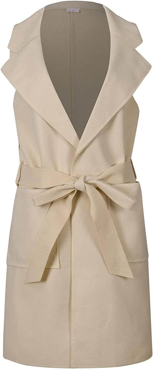 Women's Sleeveless Solid Color Woolen Single-Breasted Coat Vest Sales Washington Mall