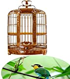 wkwk Birdcage Chuan Cage Carving Thrush Bird Cage Large Size Bamboo Cage Bird Cage Boutique Cage Suitable for Bird Breeding