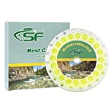 SF Fly Fishing Floating Line with Welded Loop Weight Forward Fly Lines # Yellow 100FT WF5F