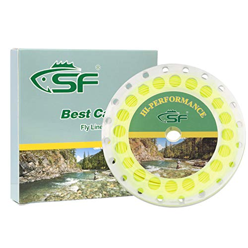 SF Fly Fishing Floating Line with Welded Loop Weight Forward Fly Lines...