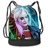 Harley Quinn Sac à Dos à Cordon Gym Sports String Bag for School Yoga Bundle Sacs à Dos Voyager Drawsting Bag Boys Girls Backpacks Bags