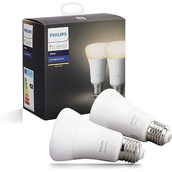 Philips Hue (ヒュー) ホワイト シングルランプ スマート LEDライト 2個セット 【Amazon Echo、Google Home、Apple HomeKit、LINE対応】 929001860902