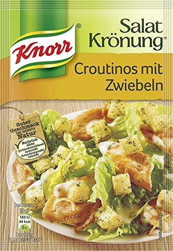 Knorr Salatkrönung Croutinos mit Zwiebeln Croutons, 10er-Pack (10 x 25 g)