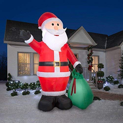Airblown Inflatables 39845 Santa with Gift Sack Christmas Airblown GIANT 12 FT TALL