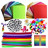 Wartoon Pipe Cleaners Crafts Set, Tuyaux Chenille et Pompoms avec Googly Eyes et...