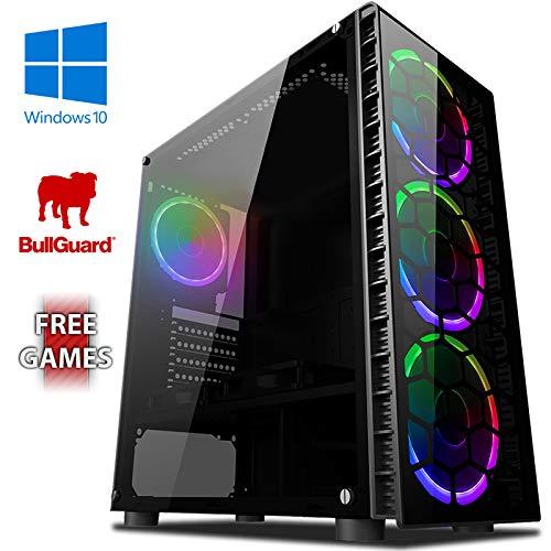 Vibox Killstreak SA4-241 Gaming-PC Computer mit 2 Gratis-Spielen, Windows 10 OS (3,8GHz AMD A6 Dual-Core Prozessor, Radeon R5 Grafik Chip, 4Go DDR4 2400MHz RAM, 1TB HDD)