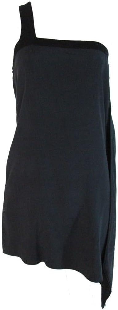 Helmut Lang Womens Sleeveless One Shoulder Cocktail Dress 6 Black