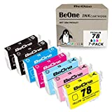 BeOne Remanufactured Ink Cartridge Replacement for Epson 78 T78 Fit for Artisan 50 Stylus Photo R280 R260 R380 RX580 RX595 RX680 (2 Black, 1 Cyan, 1 Magenta, 1 Yellow, 1 Light Cyan, 1 Light Magenta)