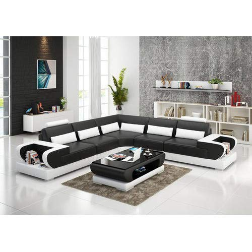 rehmans Living Room Sofa Set (Black and White)