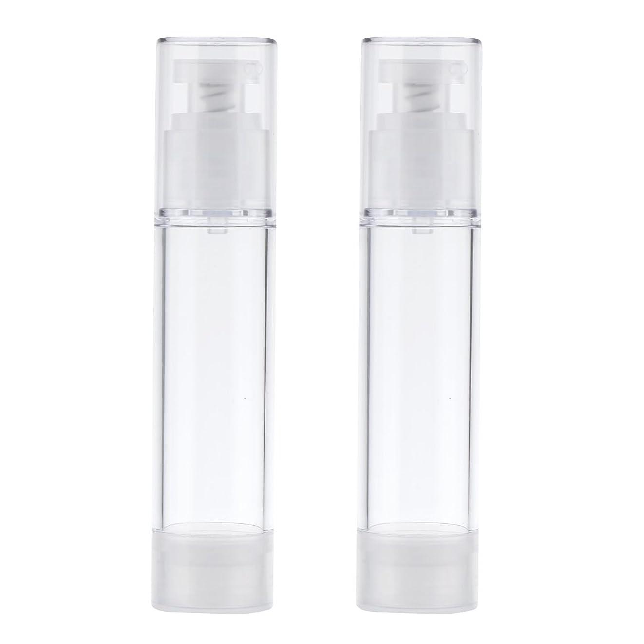 定義バリー武装解除Blesiya 2個 空ボトル ポンプボトル ローション コスメ ティック クリームボトル エアレスポンプディスペンサー 3サイズ選べる - 50ml