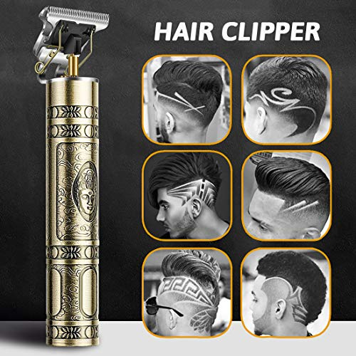 Cortapelos 2020 para hombre, profesional, T-Outliner, recargable por USB, para peluquería eléctrica