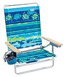 Rio Beach Classic 5 Position Lay Flat Folding Beach Chair - Fish & Turtles