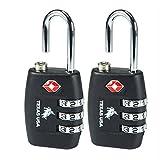 Texas USA Metal Luggage Locks (Set of 2) (Black Emztsa335black-2)