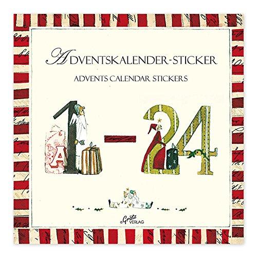 Silke Leffler Weihnachtskalender Aufkleberbuch (Zahlen 1-24)