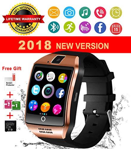 Bluetooth Smart Watch Wasserdicht Handy-uhr Sport Smartwatch Uhr Phone Touchscreen Armbanduhr Smart Uhr Telefon Kompatible IOS Andriod Iphone Smartphones (Gold)